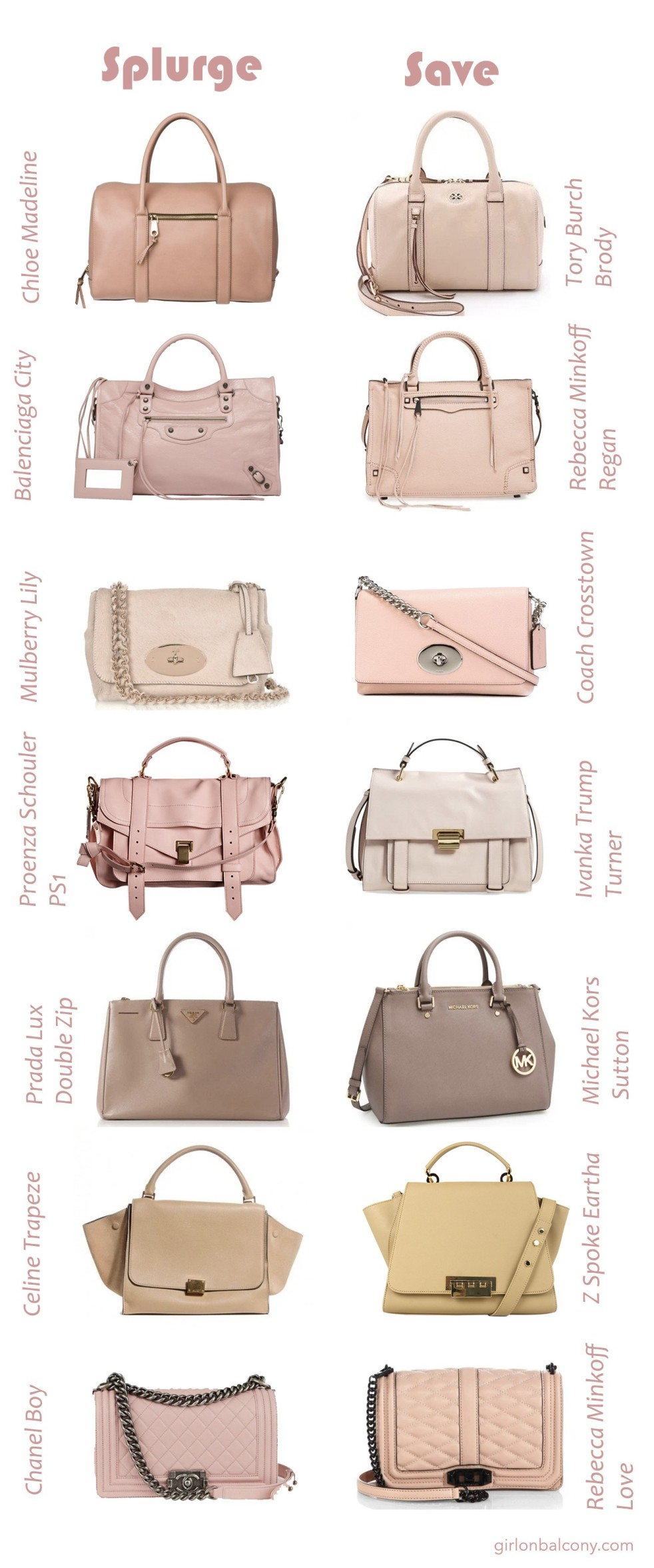 5f77bf05ed9 Designer Purses and Their Contemporary Lookalikes (Pink Edition ...